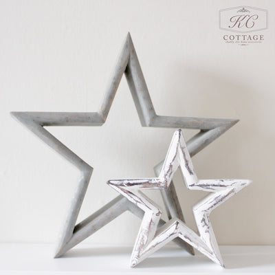 Wooden Mantelpiece Stars