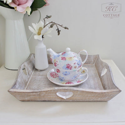 Square Wooden Tray Set