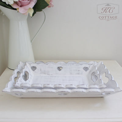 White Wooden Trays