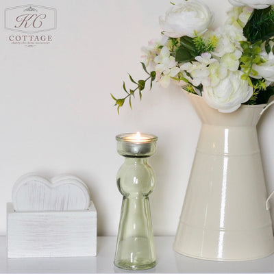 Tall Glass Tealight Holder