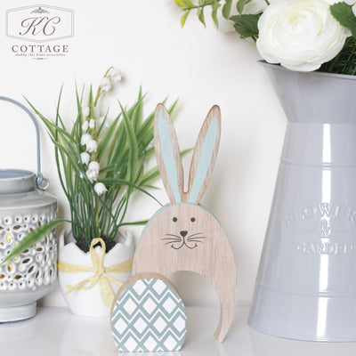 Standing Wooden Bunny Egg Diamond