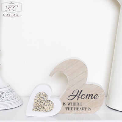Home Is Where The Heart Is Heart Plaque