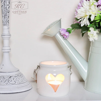 Small Porcelain Heart Lantern