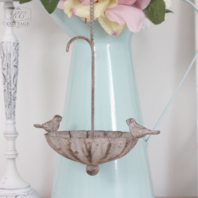 Umbrella Hanging Metal Birdbath
