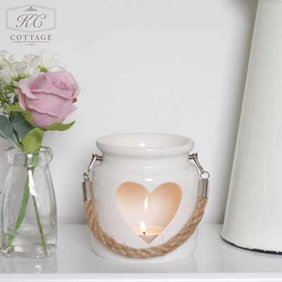 Large Porcelain Heart Lantern