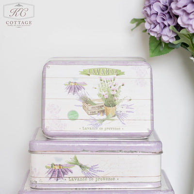 Purple Lavender Square Tins
