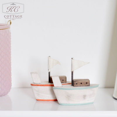 Wooden Nautical Boat Set