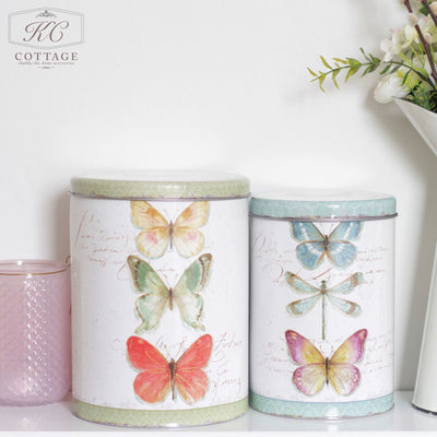 Butterfly Metal Canister Set