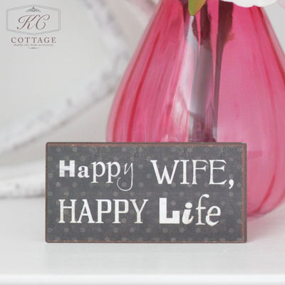 Happy Wife Happy Life Fridge Magnet
