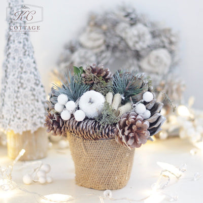 Christmas Frosted Centrepiece