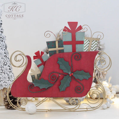 Red Christmas Sleigh Decoration