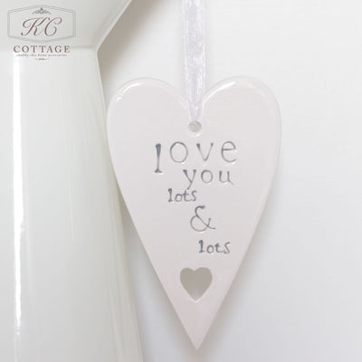 Love You Lots Ceramic Hanging Heart