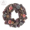 Pink & Purple Christmas Wreath
