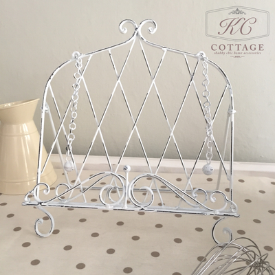 Shabby Chic Recipe Book Holder White