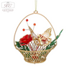 Golden Rose & Butterfly Hanging Christmas Tree Decoration