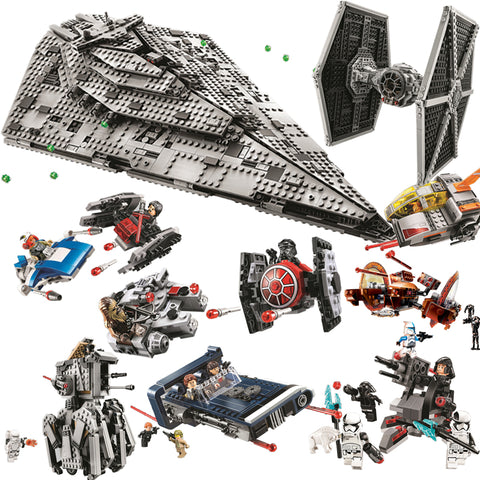 Star Wars Lego Compatible Imperial Destroyer Tie Fighter Millennium Falcon