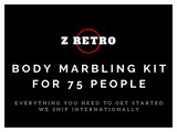 Z Retro Body Marbling Kit Party For 75 Standard Or Glow In Dark Party Paint