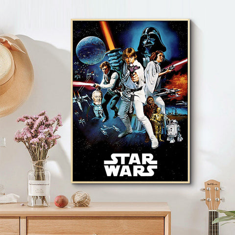 Star Wars Large Canvas Silk Fabric Portrait Over 20 Different Designs