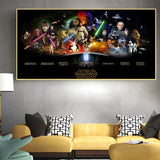 Star Wars Series High Quality Canvas Painting Vintage Poster Print