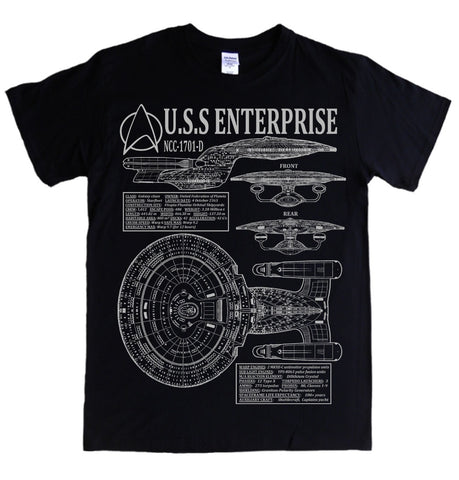 Star Trek Next Generation Blueprint Star Ship Specifications T Shirt