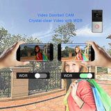 WiFi Wireless Video Camera Doorbell Intercom With 2 Way & No Monthly Fees