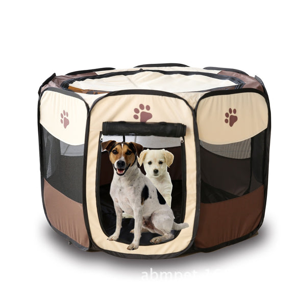 Pet Puppy Folding Kennel Exercise
