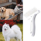 White Rake Comb for Dogs Brush Short or Long Hair
