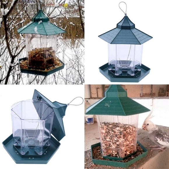 Green Pavilion Bird Feeder Outdoor