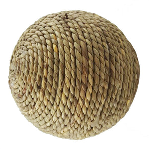 Hand-woven Natural Grass Rope Ball Chew Toys