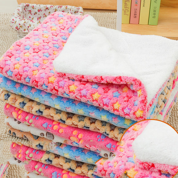 Warm Soft Fleece Pet Bed Cushion