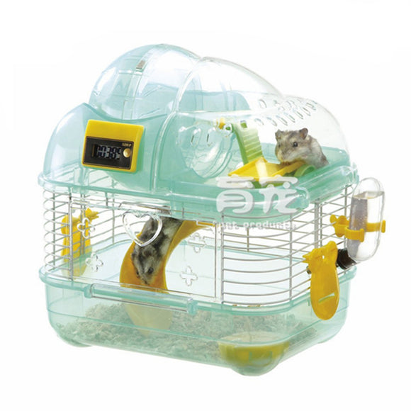 Small Pet Cage Luxury Villa with Pedometer
