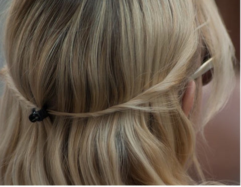 hair clip twisted back