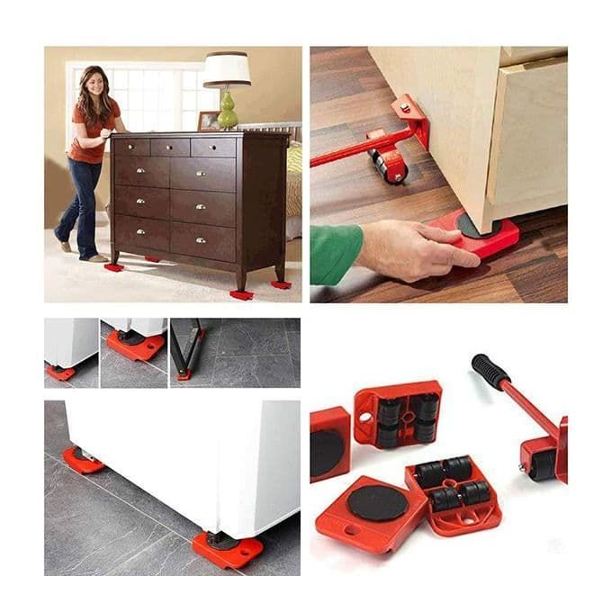 Furniture Lifter Easy Moving Sliders 5 Packs Mover Tool Set
