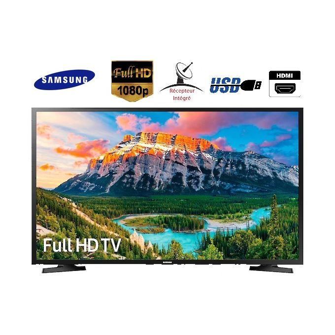 "Samsung TV 32"" LED Full HD - Satellite intégré - HDMI-TNT-USB - 32N5000 - Noir- Garantie - e-Morocco Mall"