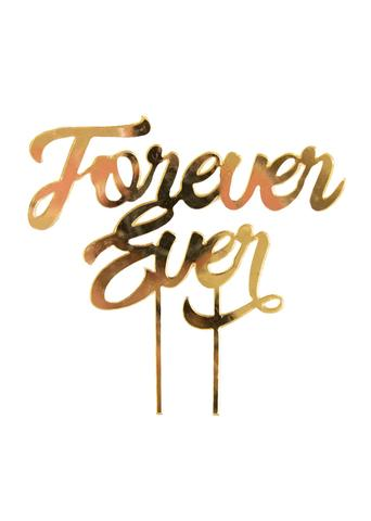 Forever Ever Gold Mirror Acrylic Cake Topper
