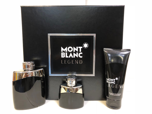 Set Mont Blanc Legend 3 pc Edp 3.3 oz spray