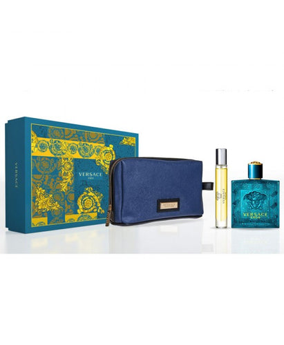 Set Versace Eros For Men 3pc Edt 3.4oz Spray