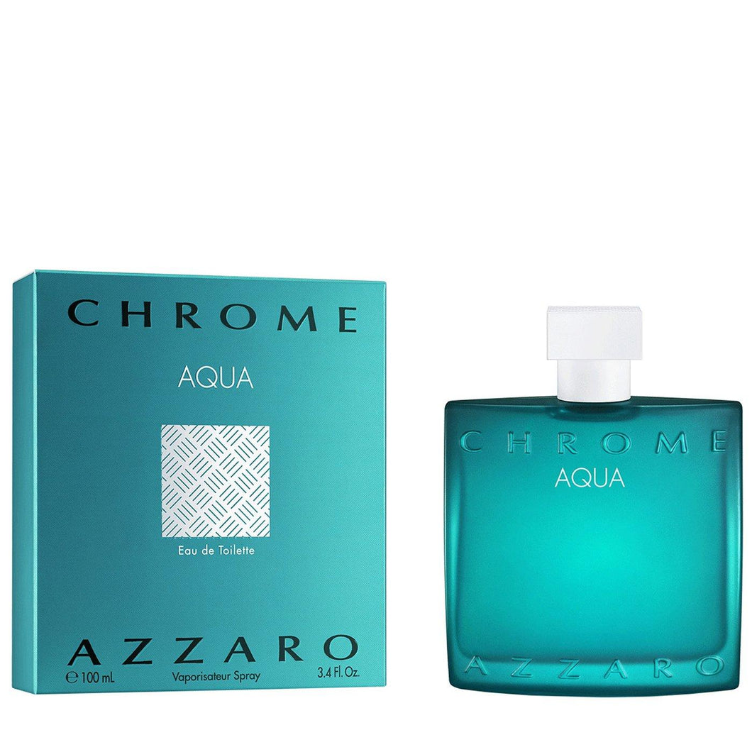 Azzaro Chrome Aqua For Men Edt 3.4oz Spray