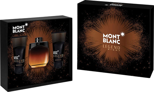 Set Mont Blanc Legend Night For Men 3pc. Edp 3.3oz Spray