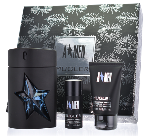 Set Angel Men 3pc. Edt 3.4oz Spray Refillable