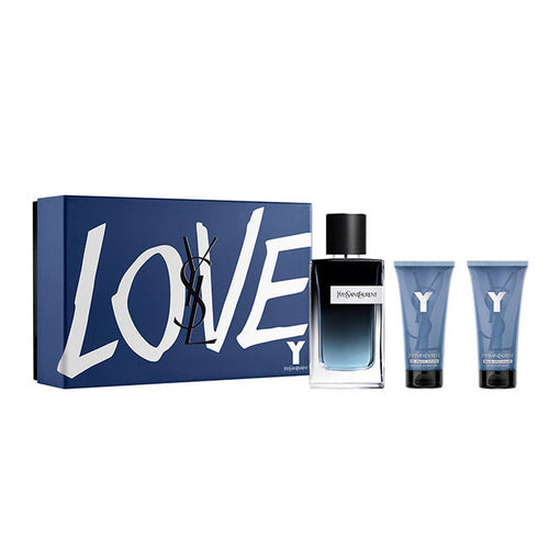Set YSL Y For Men 3pc. Edp 3.3oz Spray