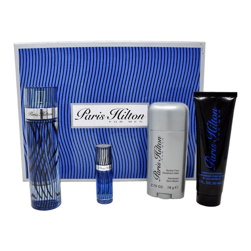 Set Paris Hilton For Men 4pc. Edt 3.4oz Spray