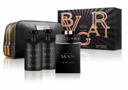 Set Bvlgari Man in Black 4pc. Edp 3.4oz Spray + 2.5oz After Shave Balm + 2.5 Shower Gel
