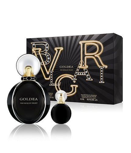 Set Bvlgari Goldea The Roman Night 2pc.Edp 2.5oz Spray + 0.5oz Edp Spray