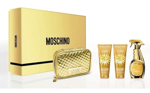 Set Moschino Fresh Couture Gold 4pc. Edp 3.4oz Spray