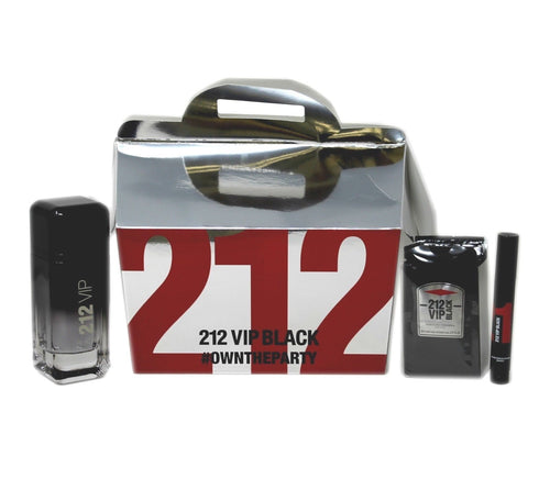 Set 212 Vip Black M 3pc. Edp 3.4oz Spray