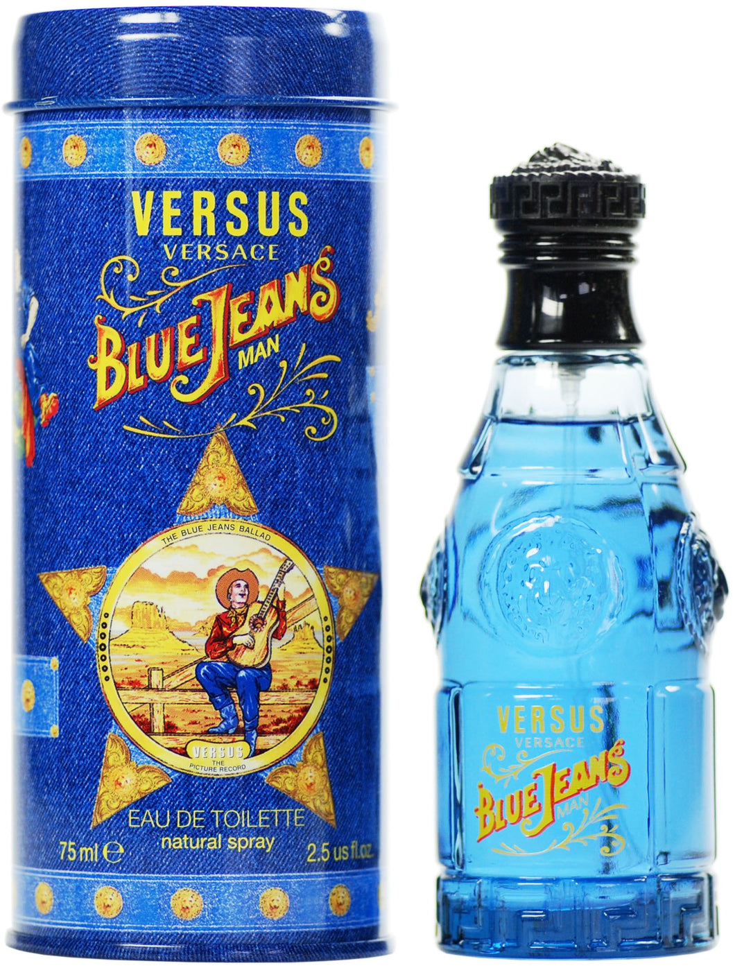 Versace Blue Jeans For Men 2.5oz Spray