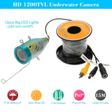 15M HD 1200TVL CCTV Camera Underwater Fish Finder for Ice/Sea/River Fishing
