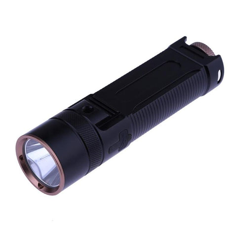 10W 1,000LM Aluminum Shell Ultra Bright 5 Modes Waterproof LED Flashlight Torch for 18650 Rechargeable Battery E5M1