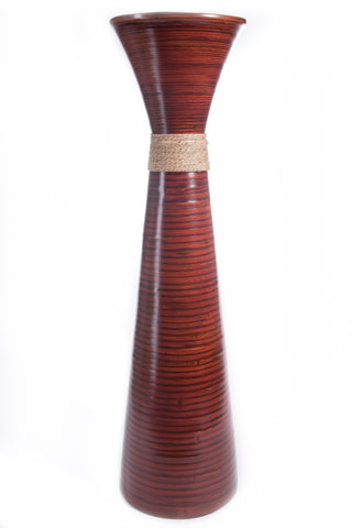 Green Floral Crafts | 36 in.Plantation Brown Bamboo Floor Vase | Floral NOT Included